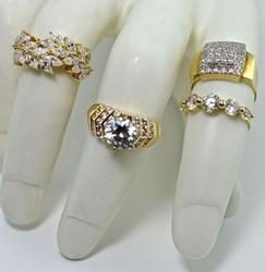 Diverse Group of 4 CZ 14K Rings