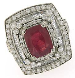4.50 CTW Ruby & Diamond Ring in 18K
