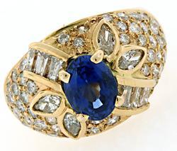 Stunning 3.25 CTW Sapphire & Diamond Ring