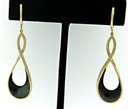 New from Frederick Sage Diamond & MOP Dangle Earrings