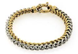 Two Tone Wheat Link Bracelet