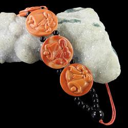 Gorgeous adjustable 170ct Red Malachite bracelet