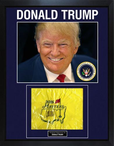 President Donald Trump Signed 2016 Masters Garden Bag D ...