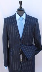 Superb Slim Fit Flannel Suit, Made By Galante
