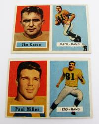 1 L.A. Rams 1957 Football Cards
