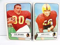 2 Redskins 1954 Bowman Football Cards