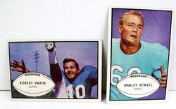 2 Detroit Lions 1953 Football Cards