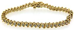 Classic Diamond S Link Tennis Bracelet at 1.0 CTW