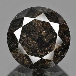 Round brilliant cut 1.45ct fancy Black Diamond