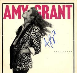 Amy Grant Autographed Signed Unguarded Album Cover AFTA