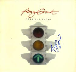 Amy Grant Autographed In Straight Ahead Album Cover AFT