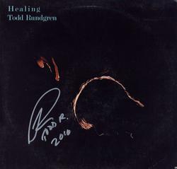 Todd Rundgren Autographed Signed Healing Album Cover AF