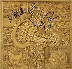 Danny Seraphine Chicago VII Autographed Album Cover AFT