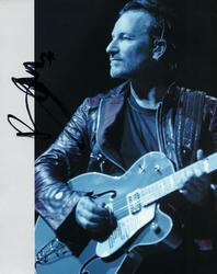 Bono U2 Autographed Signed Blue Sepia Photo AFTAL UACC