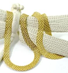 Sparkling 14k yellow gold 24 inch necklace
