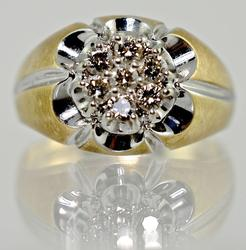 Classic Man's Diamond Cluster Ring