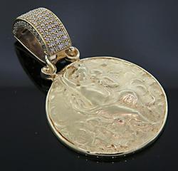 Cameo Pendant with Pave Set Diamond Bale
