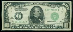 Nice Series of 1934-A $1000 Federal Reserve Note. XF