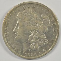 Super Rare 1894-P Morgan Silver Dollar. Circ
