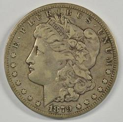 Rare Key date 1879-CC Morgan Silver Dollar. Very nice