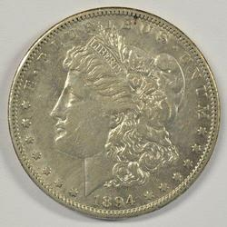 Very attractive 1894-S Morgan Silver Dollar. Key date