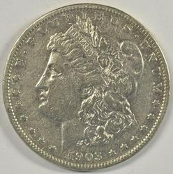 Rare 1903-S Morgan Silver Dollar in VF+