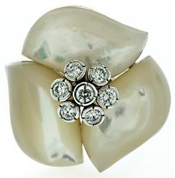 Big Flower Gemstone Ring
