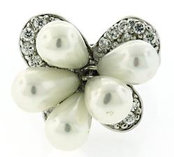 Butterfly Pearl Sterling Silver Ring