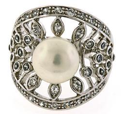 Pearl Sterling Silver Vintage Ring