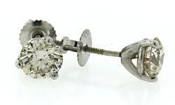 1.95 CTW Diamond Stud Earrings