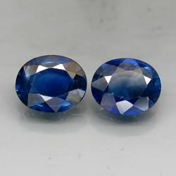 Premium 1.40ct 5x6mm pair of untreated Sapphire