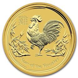 Australian Mint Lunar Gold 10 Ounce 2017 Rooster