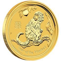 Australian Perth Mint Lunar Gold 10 Ounce 2016 Monkey