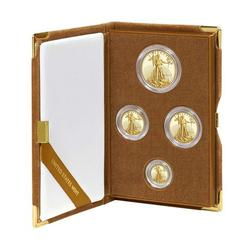 Proof American Gold Eagle 4pc Set In Box 2015
