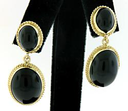 Elegant & Classic Black Onyx Dangle Earrings