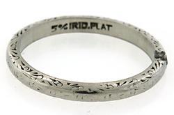 Engraved Platinum Band