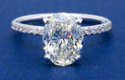 1.63CTW Oval Cut Diamond Engagement Ring