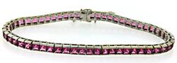 Pink Tourmaline Tennis Bracelet in 18K