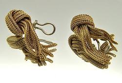 Rope Design 18kt Earrings, 20 grams