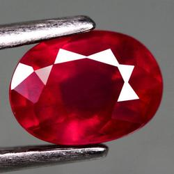 Glowing 1.20ct blood red oval cut Ruby
