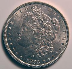 1883 Nearly Unc Morgan $