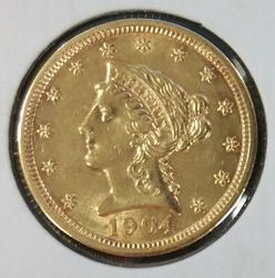 1904 US Gold $2.50 Liberty Circulated