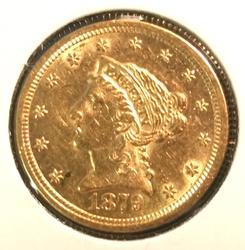1879 US Gold $2.50 Liberty Circulated