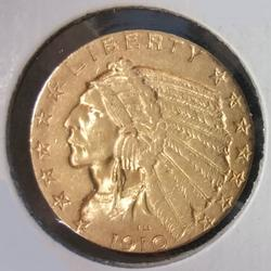 1910-S US Gold $5.00 Indian Circulated