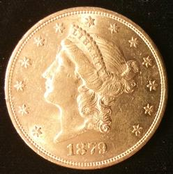 1879 US Gold $20.00 Liberty Circulated