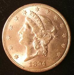 1894 US Gold $20.00 Liberty Uncirculated