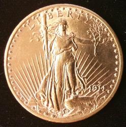 1911-D US Gold $20.00 St. Gaudens Uncirculated