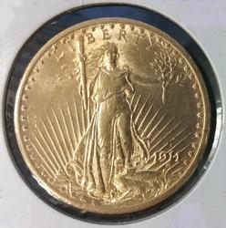 1911-S US Gold $20.00 St. Gaudens Uncirculated