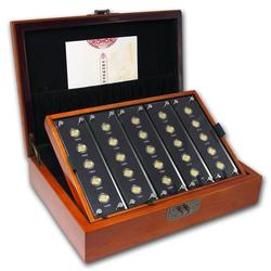 Gold Chinese Panda 25th Anniversary 2007 coin set w/Box