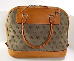Dooney & Bourke Satchel Bag in Canvas Logo